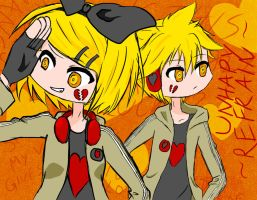 Unhappy Refrain - Kagamine Twins by Nekone666
