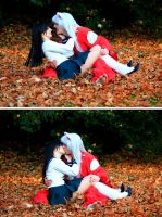 Inu Yasha and Kagome: Lovey dovey by Misamon
