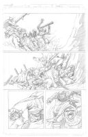 Snowmanilas #1, Page 7 PENCILS by Theamat
