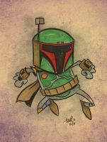 Boba Fett sketch by thecheckeredman