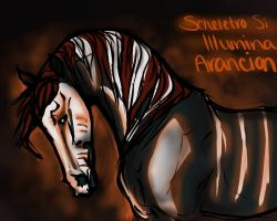 The Skeleton Glows Orange by ShiaWolfe