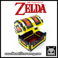 Legend of Zelda Treasure Chest by VoxelPerlers