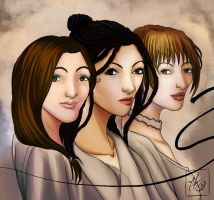 Mothers of Fullmetal Alchemist by blackenedhonestyart
