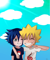 naruto and sasuke by Mephalies