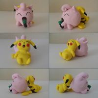 Singing Jigglypuff, Sleeping Pikachu by SubaruBlue