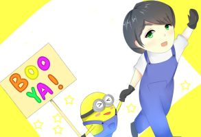 paul and minion  by annisa0403