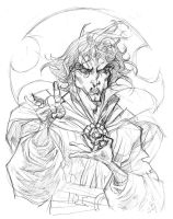Dr Strange Pencils by rogercruz