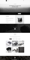 Freebie - Vintage Single Page PSD Theme by GraphBerry
