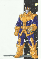Marvel Villains Speed Paint Week 001: THANOS by MAD-project