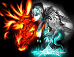 Fire and Ice (Collab) by MoonOfSouls