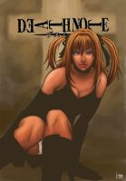 misa amane - death note fanart by funeralwind