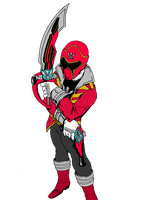 Gokai Red - flats by Jason-FH-Art