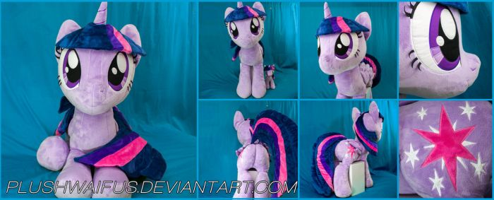 Life Sized 36 inch Alicorn Twilight Sparkle plush by PlushWaifus