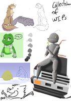Collection of WIPs by ShimmiDragon