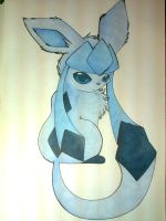 Chibi furry Glaceon by FlareAKACuteFlareon