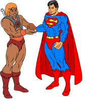 He-man and Superman by FaGian