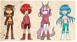 Little Cool Demon Boys [closed] by beartachi