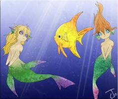 Two Lil Mermaids by DaMoophinMasta