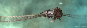 Raie Mant'air - steampunk ship by Mogura-no-kanji