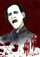 Marylin Manson retrato by ROSEBONES83