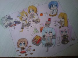 vocaloid chibi picknick by Evil-Alice8