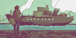 Steam Boat Animation by Haluin