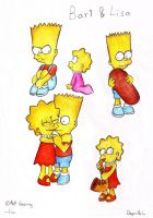 Bart and Lisa pics by Saphiin