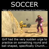 Red Vs Blue Grif soccer demote by Drohung-DragonNinja