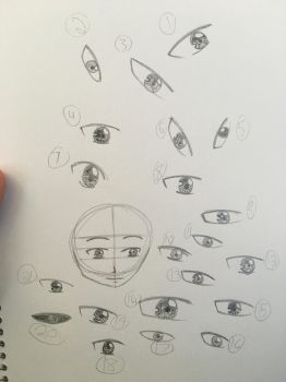 Last eye drawings for a while by Firestorm999