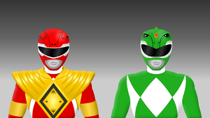 Armored Red and Green Power Ranger by Yurtigo