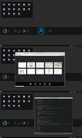Dark archlinux with KDE by printesoi
