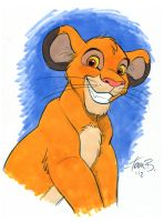 Young Simba in color by tombancroft