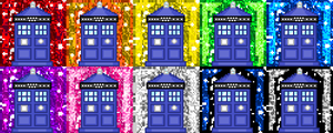 Glittery TARDIS Downloadable Icon Pack #2 by Chrisily