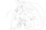 Zombie Dragon Outline by AngelOfDarkness050