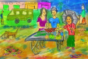 Late Evening Veggie Shopping by sumangal16