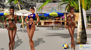 DOA Xtreme VolleyBall 3: DLC Characters 2014 :D by LaraLuvsMe