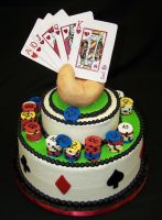 Poker Grooms Cake. by helen1988