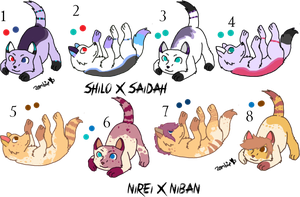 Pair My Breedables Litters 1 - Open by KittehzAdopts