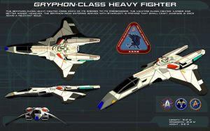 Gryphon-Class Heavy Fighter ortho [new] by unusualsuspex