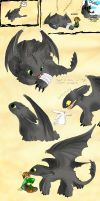 several arts of Night Fury by J-C-P