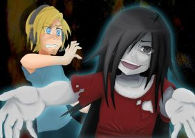 Corpse Party Sachiko and Pewdiepie by r-kidz