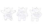 Gengar  Sketches 2 by BoomKey