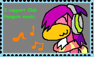 Club Penguin Music Stamp by Nneriamux4ever