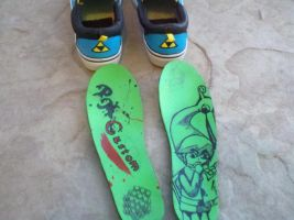 Zelda custom hand painted canvas shoes by Drawing-Me-Closer