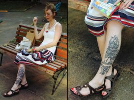 Khmer Lion Tattoo by MigraineSky