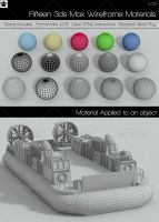 15 Wire Frame Materials 3d Max by HollowIchigoBanki