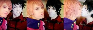 Prince Gumball + Marshall Lee, Adventure Time by Hadukoushi
