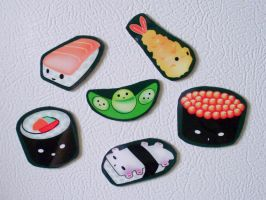 Sushi Magnets by alexredford
