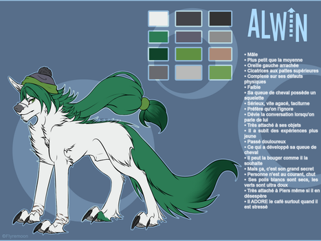 Comish - Alwin Ref by Flyremoon