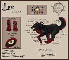 Lex character sheet by realWolfshade